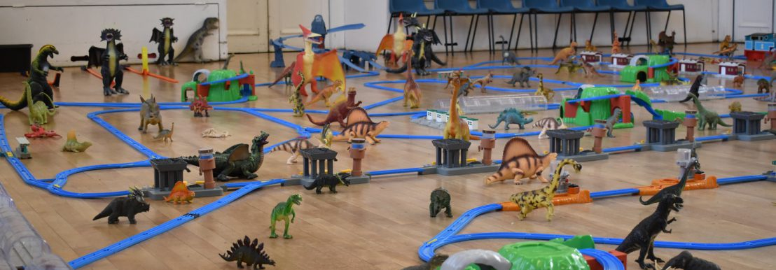 Trains, cars, dinosaurs!